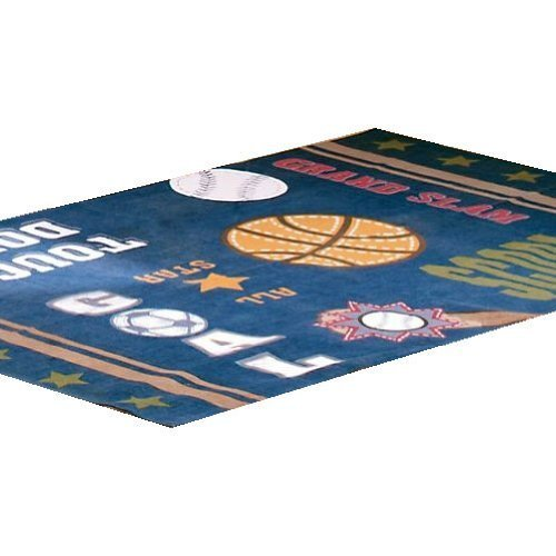 All Sports Basketball Soccer Large Area Rug Floor Accent by Domestications by Domestications
