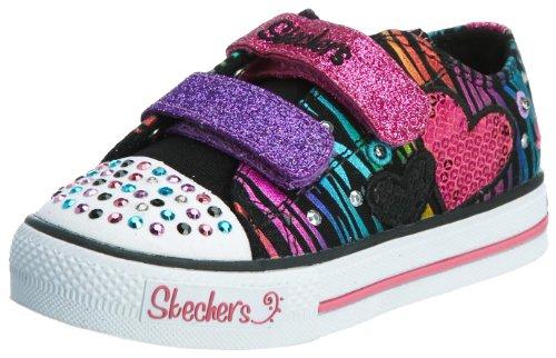 Skechers ShufflesTriple Time Mädchen Sneakers Schwarz (Bkmt)