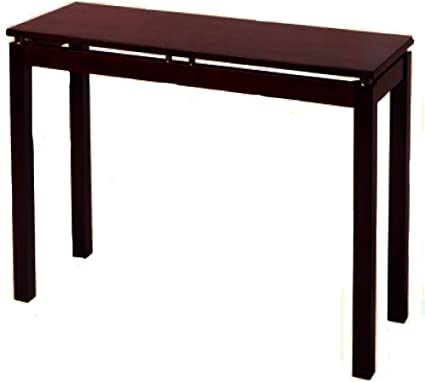 Sleek Console Table Wooden Tall Long Vertical Espresso Brown Modern Front Display Accent Hall Entryway Sofa Table Ebook By Easy Fundeals Amazon Co Uk Kitchen Home