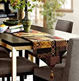 95x13' Table runner Abstract Handmade Artistic Top Decor Dining Tablerunners Table Linens