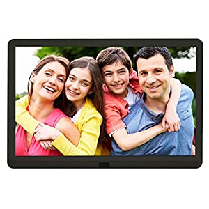 Digital Photo Frame 10 inch with 32GB SD Card, Kenuo 1920×1080 High Resolution 16:9 FHD IPS Screen Digital Picture…