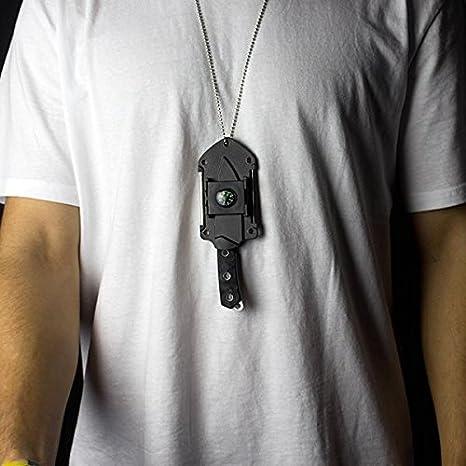 Amazon.com: Cuchillo de cuello de supervivencia – cuchilla ...