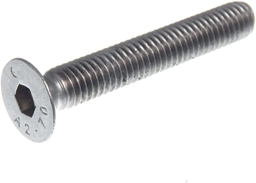 DIN/7991 En acier inoxydable/A2 Lot de 50/vis /à t/ête frais/ée avec six pans