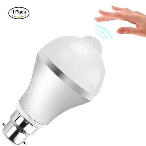 Sensor de movimiento luz bombilla, Minger 9 W PIR bombillas LED para escaleras, garaje