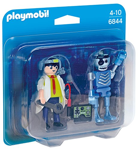 PLAYMOBIL® Scientist with Robot Duo -