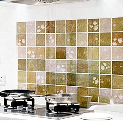 Onsearch Kitchen Removable Oil Proof Waterproof Wall Sticker 100cmx60cm Cleaning Wall Decals Home Cook Stove Wall Decor
