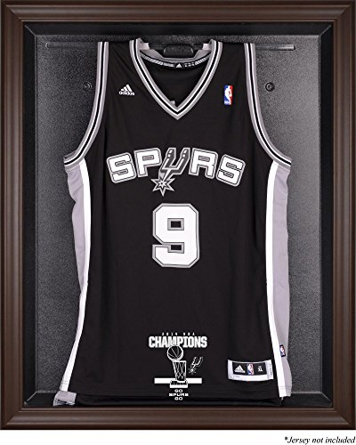 San Antonio Spurs 2014 NBA Champions Brown Framed Logo Jersey Case - Fanatics Authentic Certified - Basketball Jersey Logo Display Cases by Sports Memorabilia