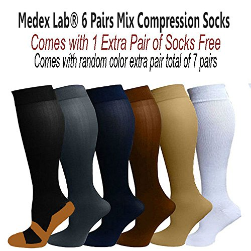 Ladies Assorted Color Compression Socks