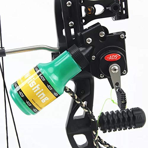 PA Bow Fishing Spincast Reel for Compound Bow and Recurve Bow Shooting Tool Fish Hunting Bow Fishing Right Handed