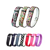NEWLIBO 10PCS 3D Replacement Bands with Clasps for Fitbit Flex Only /No Tracker/ Wireless Activity Bracelet Sport Wristband Fitbit Flex Bracelet Sport Arm Band Armband
