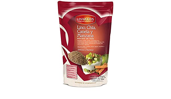 Amazon.com : Linwoods Milled Flaxseed, Chia, Apple & Cinnamon 200g : Grocery & Gourmet Food
