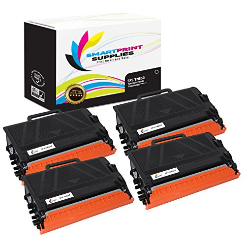 6200 Compatible Toner - Smart Print Supplies TN850 TN820 4 Pack Black Compatible Toner Cartridge Replacement for Brother HL-L6200 L6300 L5200, MFC-L6900 L6700 L5800 L5850, DCP-L5500 L5600 Laser Printers (8,500 Pages)