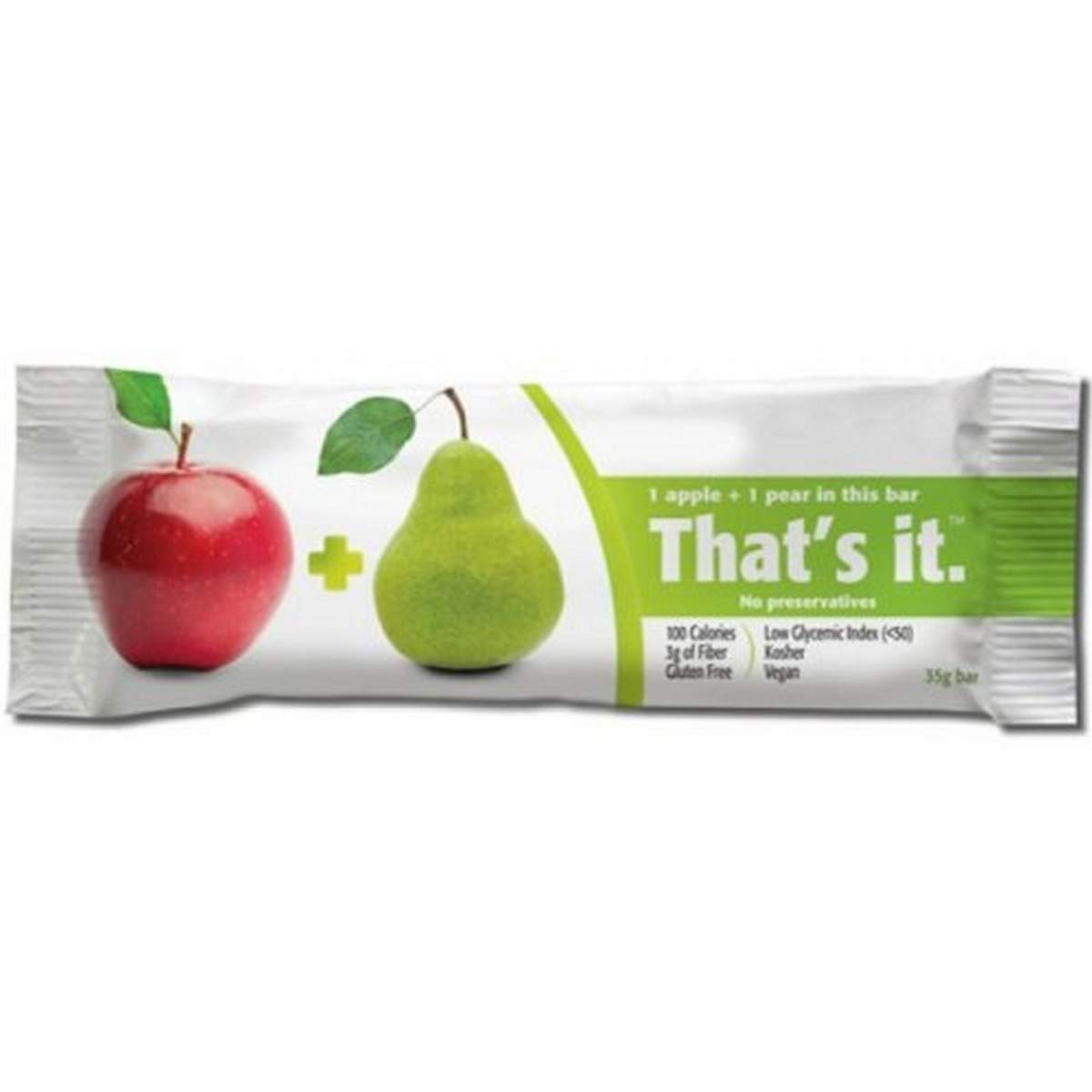 THATS IT FRUIT BAR APPLE PEAR, (12 Count of 1.2 oz Bars) 14.4 oz