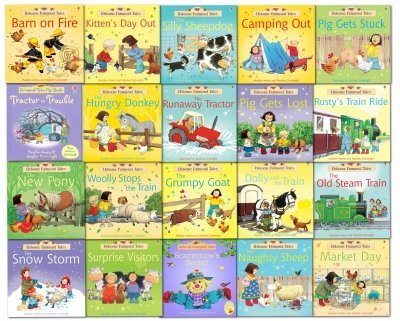 Apple Tree Farm - Usbourne Farmyard Tales Set - The Complete Set of 20 Stories All About Apple Tree Farm