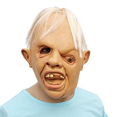 Halloween Creepy Horror Goonies Sloth Latex Head Mask Cosplay Party Novelty Costume Beige: Clothing