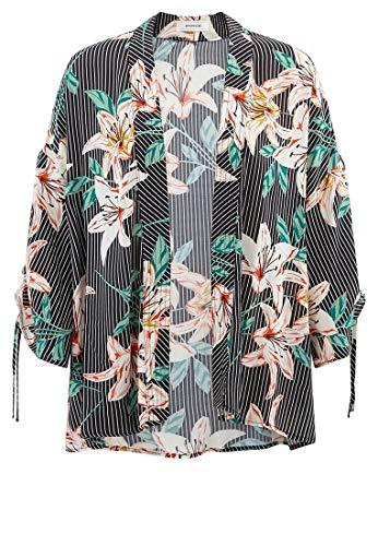 Femme Veste Imprimé Kimono Marine Promod A7xH0qTT