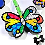 Chengshang Long Home Romero Britto Butterfly Luggage Tag Travel Bags Id Name Bag Backpack Custom