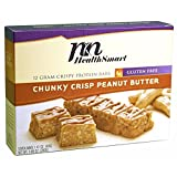 HealthSmart - High Protein Diet Bars - Chunky Crisp Peanut Butter - 12g Protein - Low Calorie - Low Fat - Gluten Free (7/Box)