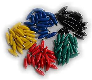 Alligator Clips for Electric Test Red and Black Small (Pack of 100)
