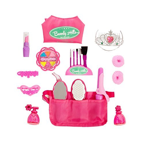 Beverly Hills Doll Collection 13 Piece Doll Hair Beauty & Dress Up Set for 18 Inch American Girl Dolls Cape and Pocket Apron - Beverly Hills Kids