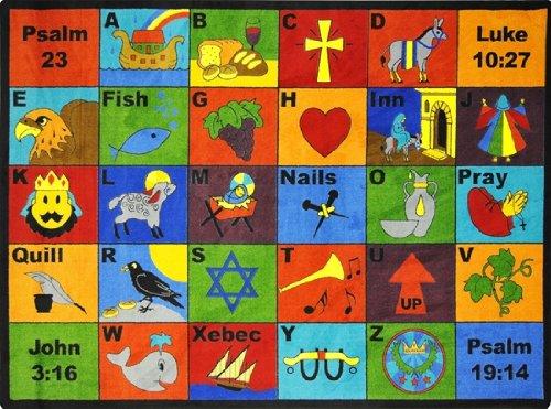 Bible Phonics Kids Rugs Area Rug 5'4