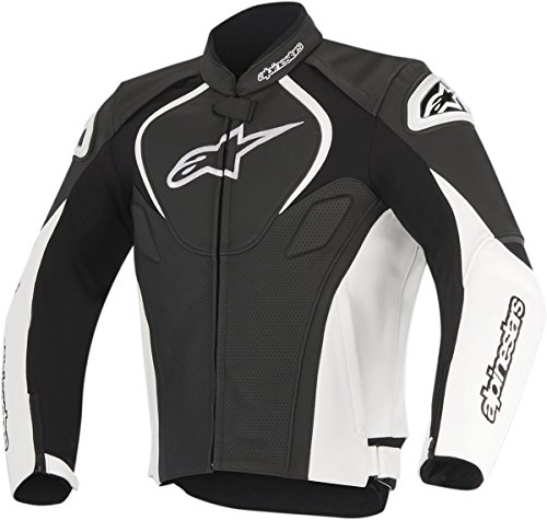 Alpinestars Men's Jaws Perforated Leather Jacket(Black/White,EU 50)
