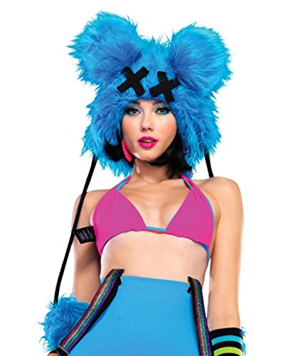 Dead Mouse Furry Hood Costume Accessory