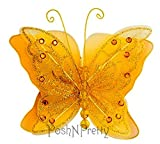 Fairy Glitter Butterfly Wings, Newborn, Baby, Photography prop - Color: GOLD