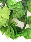 ShinyBeauty 96 Ft - 12 Pack Artificial Ivy Leaf privacy fence Fake Vines grapes Home Kitchen Garden Office Wedding Wall Decor