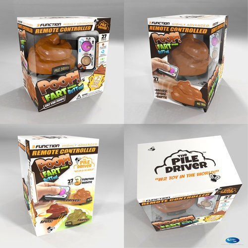 Race together on Different Radio Frequencies SG/_B079H2YWT1/_US Set of 2 Pile Driver Remote Control Poop Cars With Spinning and Farting Action