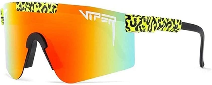 Pit Viper Sunglasses,Outdoor Cycling Glasses,Windproof Sports Eyewear UV400 Polarized Sunglasses for Women and Men