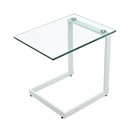 Coffee Tables Creative Tempered Glass Living Room Sofa Side Simple Bedroom  White Transparent Small Desk (