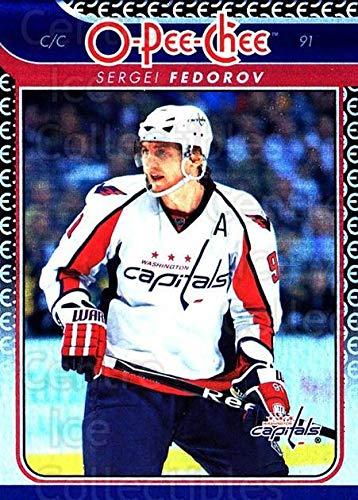 (CI) Sergei Fedorov Hockey Card 2009-10 O-pee-chee Rainbow 283 Sergei Fedorov