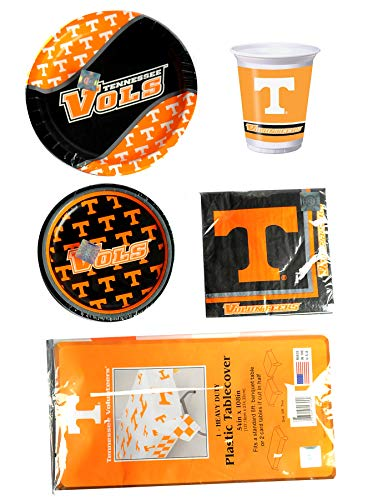(University of Tennessee Volunteers Party Pack for 8 - Plates, Napkins, Cups, Table Cover)