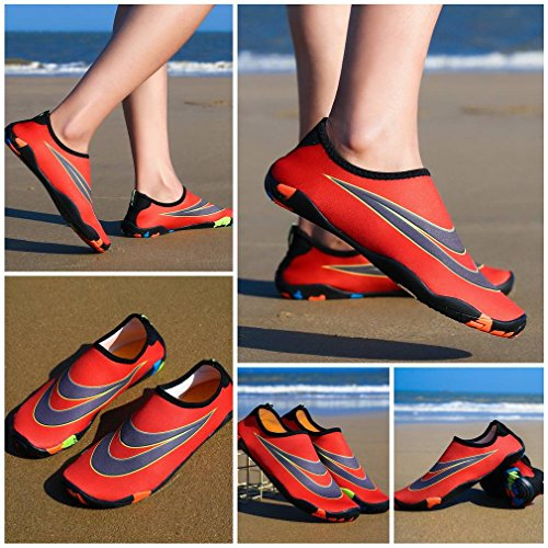 Girls Water Sports Lovers Socks Boy Shoes Bigood Outdoors Women Aqua Men Red w8qTxAT7