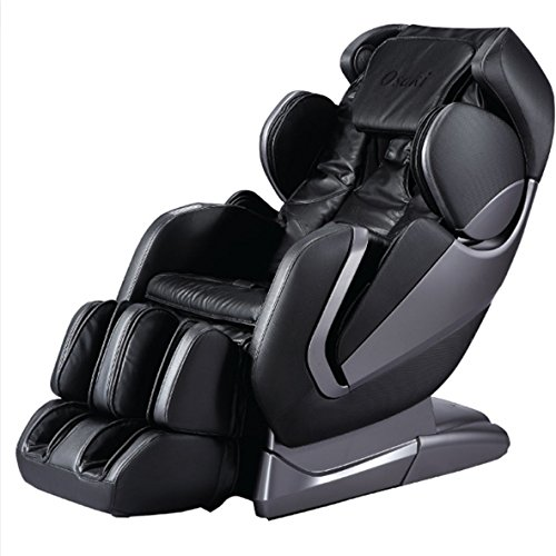 Titan Pro- Alpha Full Body Massage Chair, New Arm Design, L-Track Roller Design for under Buttocks, Space Saving Feature, Zero Gravity Position, Foot Rollers (Black) (New Massage Chair)