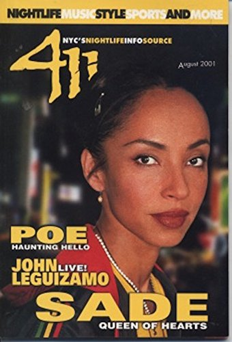 SADE cover magazine - 411 (NYC) [August 2001] pdf