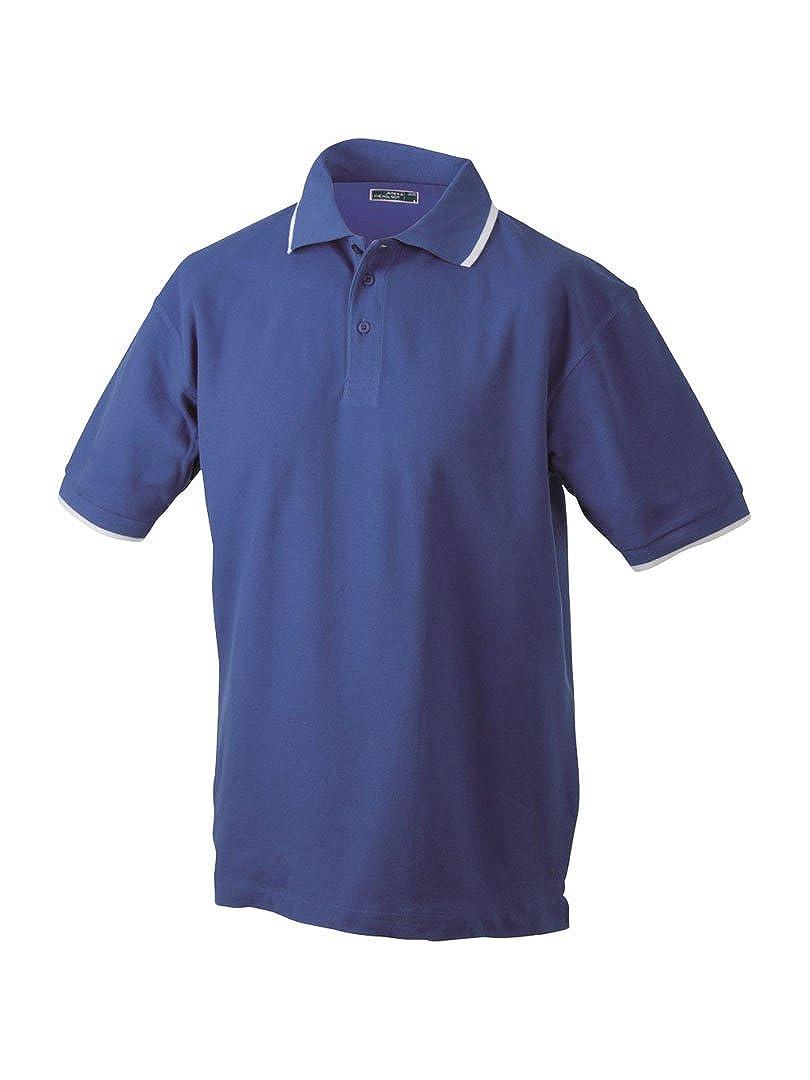 James Nicholson Jn034 Mens Tipped Polo Shirt At Amazon Mens