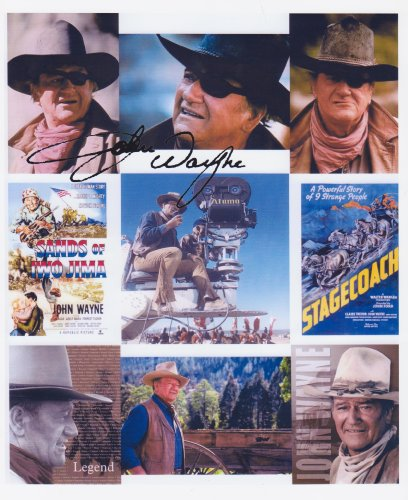 Johns Autographs (John Wayne Autograph 8 X 10 Photo Display on Glossy Photo Paper)