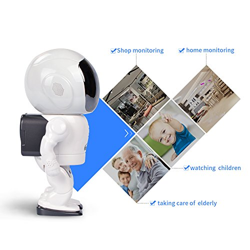Wifi Robot Camera Security Camera 960P 1.3MP P2P Remote Cloud with Pan Tilt Night Vision Two Way Audio Motion Detection CCTV Surveillance for Elder Baby Pet Dog of Indoor Home from CTVISON