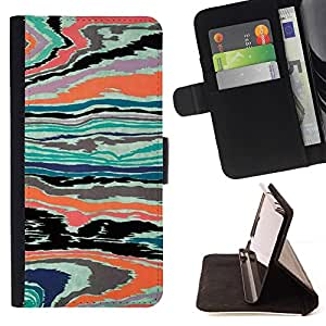 Momo Phone Case / Flip Funda de Cuero Case Cover - Textura abstracta psicodélico color - Samsung Galaxy J1 J100