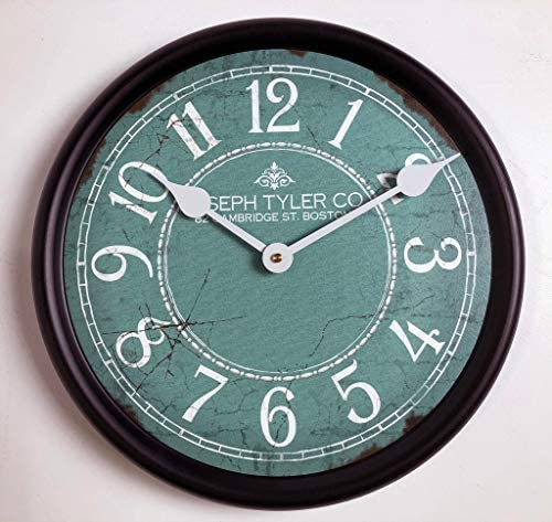 Aqua White Wall Clock, Available in 8 Sizes, Most Sizes Ship The Next Business Day,
