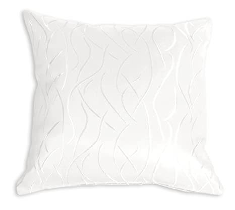 Funda de cojín de rayas de damasco de patrones y funda de almohada de 40 x 40 o de 50 x 50 cm y funda de almohada de decoración de estilo marinero, ...