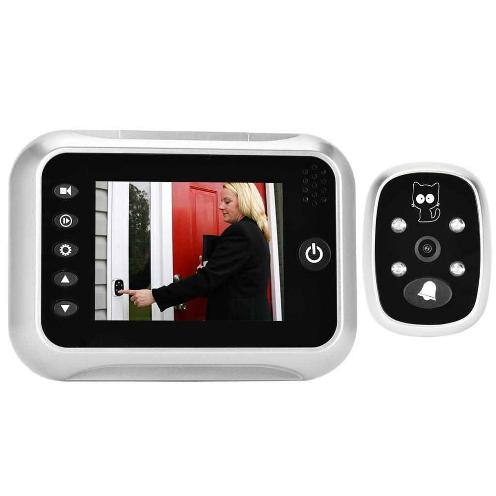Zetiling Doorbell Viewer, LCD Digital Doorbell Door Viewer Camera Night Visuable Door Bell 3.5inch with 32 ringtones