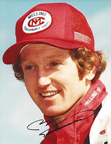 AUTOGRAPHED 1980s Bill Elliott #9 Melling Performance Parts Racing (Pre-Race Pose) Winston Cup Series Vintage Signed Collectible Picture NASCAR 9X11 Inch Glossy Photo with COA