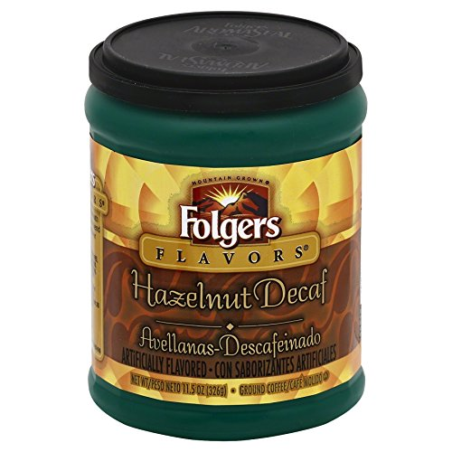 - Folgers Hazelnut Decaf Coffee, 11.5 Ounce