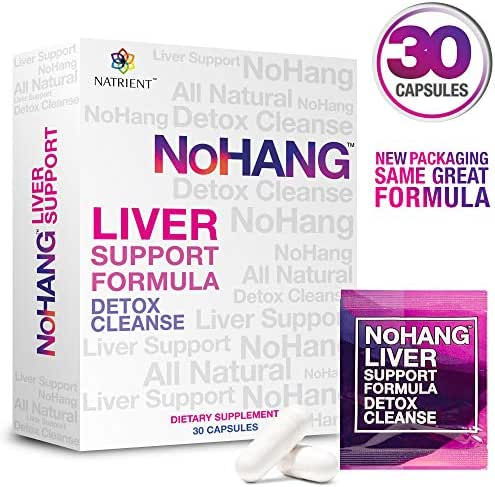 NoHang Liver Detox Supplement & Hangover Pill – Supports Liver Health & Function – All-Natural, Gluten Free, Non-GMO - Premium Quality Liver Cleanse Formula (30 Capsules)