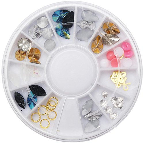 NewKelly Nail Art Rhinestones Glitters Acrylic Tips Decorati