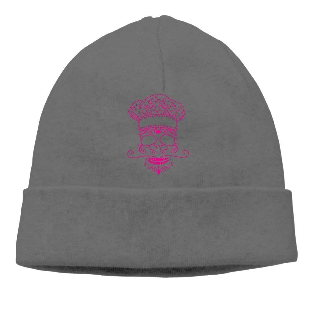 Go Ahead boy Unisex Pink Skull Cook Classic Fashion Daily Beanie Hat Skull Cap