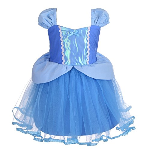 Dressy Daisy Girls Princess Cinderella Dress Costumes for Toddler Girls Halloween Fancy Party Dress Size 4T